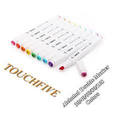 <b>Touchfive 30/40/60/80</b>/<b>168Colors pen</b> Art <b>Markers</b> Set Dual Head ...