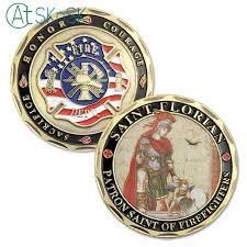 5pcs/<b>lot New</b> custom <b>commemorate</b> medals Saint Florian ...