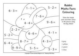 Maths Facts Colouring PagesRabbit Maths Facts Colouring Page
