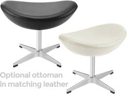 matching ottoman optional replica egg chair arne