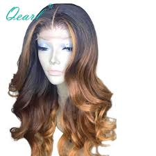 Long Middle Part Human Hair <b>Lace</b> Front Wig <b>13x6</b> Ombre ...