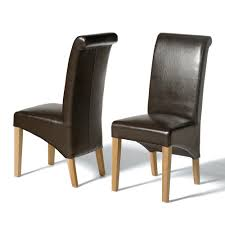 Brown Leather Dining Room Chairs Light Oak Rollback Brown Leather Dining Chair Including Free