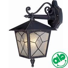 Lanterna Da Parete : Lanterna da esterno a parete in alluminio e vetro grigio ghisa