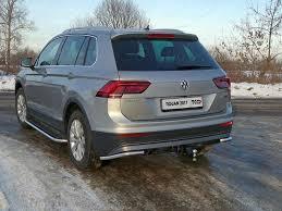Защита <b>задняя</b> (<b>уголки</b>) 42,4 мм для VW Tiguan 2017- купить в ...