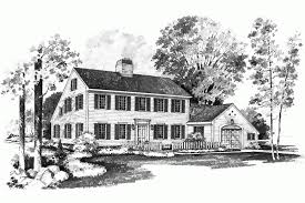 Affordable Saltbox Home HWBDO Colonial from BuilderHousePlans comAffordable Saltbox Home Zoom Reverse