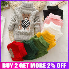 <b>BibiCola</b> high quality baby <b>girls boys</b> pullovers turtleneck sweaters ...