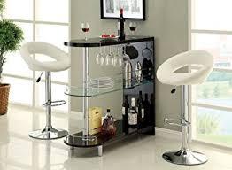 numbi modern style black lacquered finish and glass mini bar server island table black mini bar
