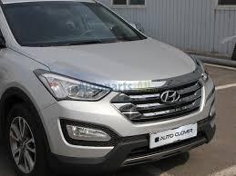 <b>Дефлектор капота хром</b> Hyundai Santa Fe