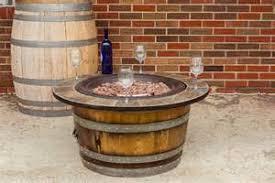 wine barrel ideas wine barrel outdoor wine barrel fire pit cafe lighting 16400 natural linen