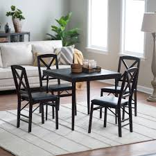 card table set foldable dining style