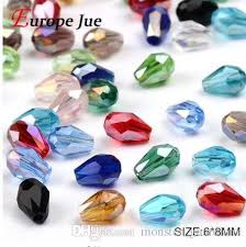 2019 Top Quality <b>Waterdrop Faceted Austrian</b> Crystal Beads 6*8mm ...