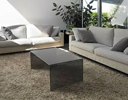 <b>coffee table</b> atena tinted grey hot bent glass <b>110x60x40</b> cm (ct071g)