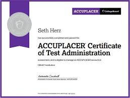 college board accuplacer login