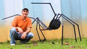 Huge Spider for DIY Halloween Decorations with <b>PVC Pipe</b> - YouTube