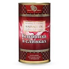 <b>Массажное масло</b> с ферамонами «Клубника в сливках ...