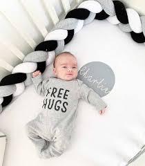 <b>1M</b>/<b>2M</b>/<b>3M</b> Baby Bed Bumper Knot Cushion Pillow <b>Braided</b> Crib ...