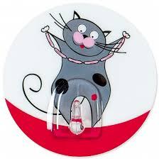 <b>Крючок Tatkraft FUNNY</b> CATS TOM <b>адгезивный</b> d=8 см. до 3 кг.