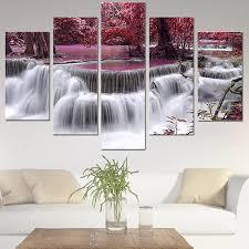 Multi-style <b>5 Panel Canvas</b> Wall <b>Art</b> Unframed Oil <b>Painting</b> Picture ...