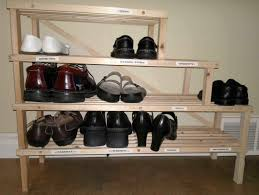 furniture simple design of ike shoes rack in ladder shape made of brown solid wooden brown solid wood shape home