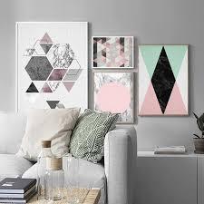 Abstract Geometric Marble And Hexagons Minimalist Modern <b>Nordic</b> ...