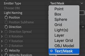 Emitter > Text/<b>Mask</b> Emitter | Red Giant