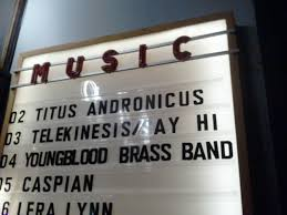 titus andronicus rust is just right classy marquee inside the venue