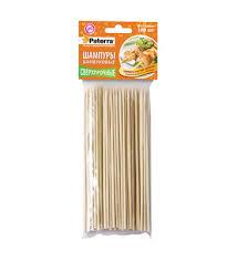 "<b>Шампуры для шашлыка</b> ""<b>Paterra</b>"", бамбук, 100 штук, 200 мм ..."