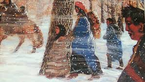 Image result for images of old Indians on trail of tears