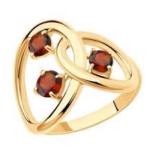 <b>Серебряные кольца</b> с гранатами ᐉ купить в каталоге <b>SOKOLOV</b> ...