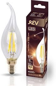 <b>Лампочка REV Deco Premium</b> Filament FC37, Теплый свет 5 Вт ...