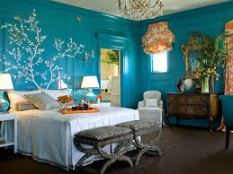 inspirational romantic light blue bedroom wall color with iron bed artistic bedroom lighting ideas