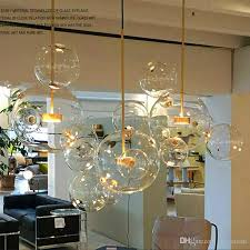 <b>Clear Glass Ball Living</b> Room Chandeliers Art Deco Bubble Lamp ...