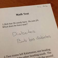 good answer diabetes funny math question paper funny good answer diabetes funny math question paper
