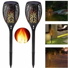 96LED <b>Solar Flame Light</b> Outdoor Garden Lawn Light Garden ...