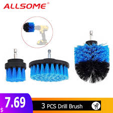 ALLSOME 3Pcs <b>2</b>/<b>3.5</b>/<b>4 Inch</b> Blue <b>Drill</b> Brush Tile Grout Power ...