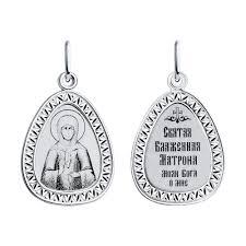 94100154- Подвеска-<b>иконка серебряная Святая Блаженная</b> ...
