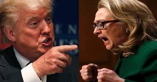 Hasil carian imej untuk Donald Trump/Hillary Clinton