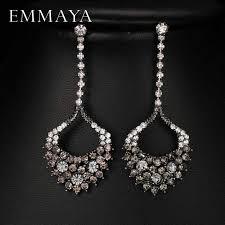 <b>Emmaya</b> Fashion Simulated Pearl CZ <b>Bridal</b> Long Earrings Jewelry ...