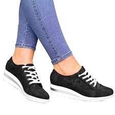 2019 New High Heeld Wedge Sneakers Women's ... - Amazon.com