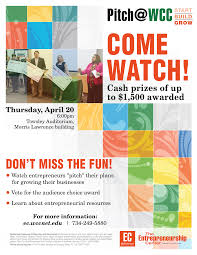 home the entrepreneurship center pitch logo pitch wcc flyer