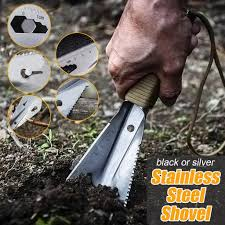 6 Way <b>Multifunction</b> Shovel <b>Stainless</b> Steel Portable Trowel Garden ...