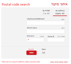 Postal Codes - Anglo-List - Israel Lifestyle, Aliyah & Relocation