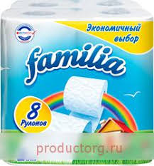 Купить <b>Туалетная бумага Familia Радуга</b> 2 слоя 8 рулонов по ...