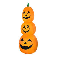 Airblown® Inflatables Pumpkin Stack <b>Scene Halloween Decoration</b> ...