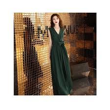 China Simple Design <b>Sexy Dark Green</b> V-Neck Lady Evening Dress ...
