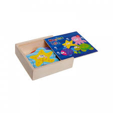 <b>Деревянная игрушка Bondibon Игровой</b> набор пазлы Морские ...