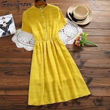 <b>Summer Dress Women Stand</b> Collar Casual Loose Solid Short ...