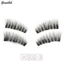 <b>Genailish</b> 3 <b>Magnetic Lashes</b> False Eyelashes Hand Made Full Strip ...