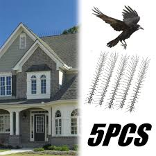 <b>5PCS</b> 50cm Anti <b>Bird</b> Spikes <b>Stainless</b> Steel Pest Strips Pigeons ...