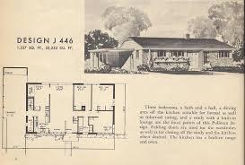 Vintage House Plans  Mid Century Modest   Antique Alter Ego    Vintage Home Plans  Mid Century Homes